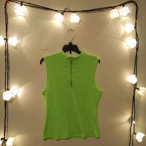 Neon Green turtle neck tank